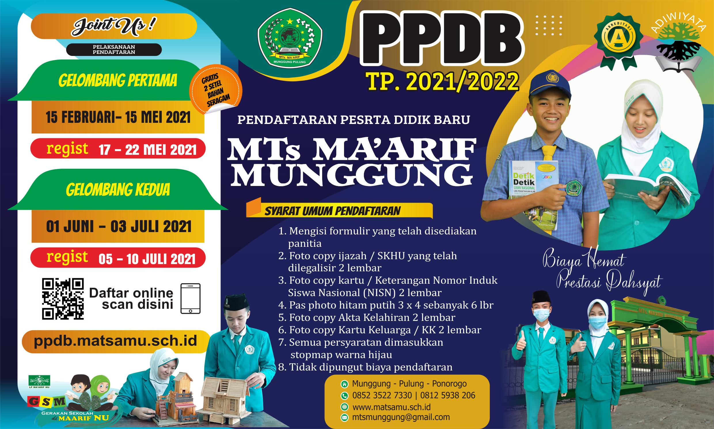 Desain Poster dan Pamflet PPDB 2021/2022
