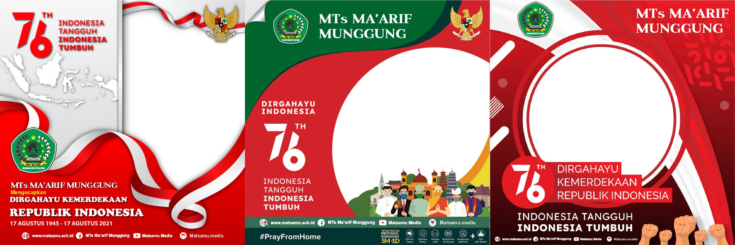 TWIBBON DIRGAHAYU INDONESIA KE-76